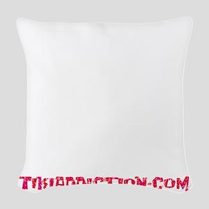 SHAKE THE SAND - BLACK Woven Throw Pillow