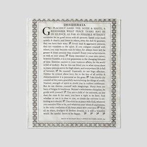 The Desiderata Poem by Max Ehrmann Throw Blanket