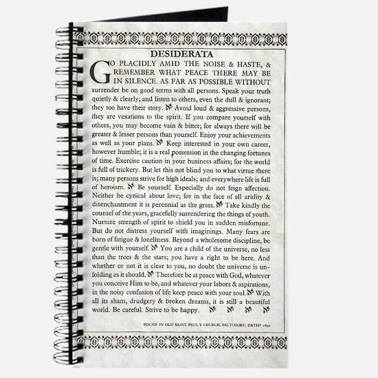 The Desiderata Poem by Max Ehrmann Journal