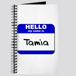 hello my name is tamia Journal