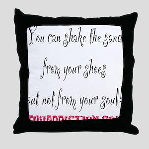 SHAKE THE SAND - WHITE Throw Pillow