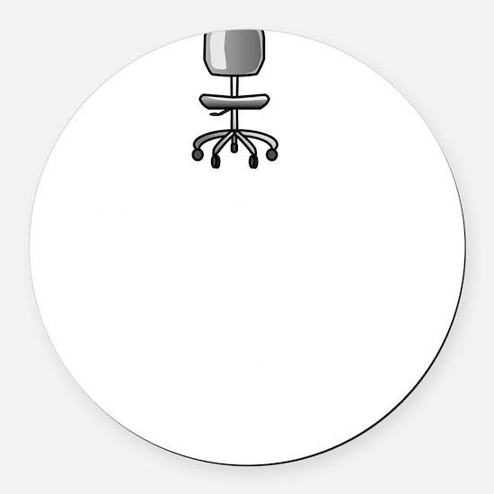 Job Chair Spins Round Car Magnet
