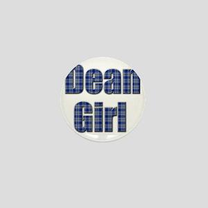 Dean Girl (blue plaid) Mini Button