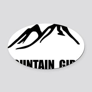 Mountain Girl Oval Car Magnet