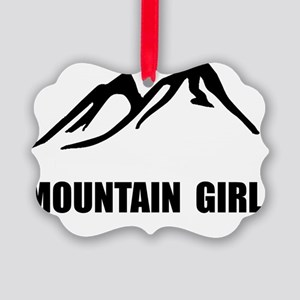Mountain Girl Picture Ornament