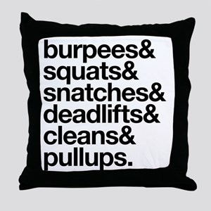 Crossfit Essentials Black Text Throw Pillow