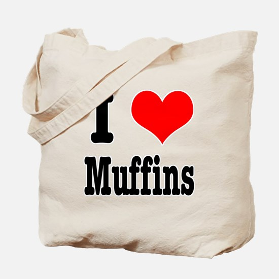 I Heart (Love) Muffins Tote Bag