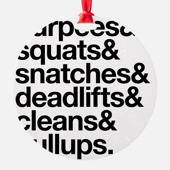 Crossfit Essentials Black Text Ornament