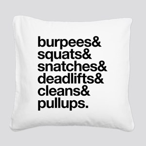Crossfit Essentials Black Tex Square Canvas Pillow