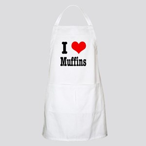 I Heart (Love) Muffins BBQ Apron