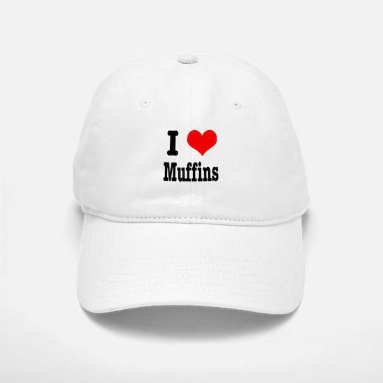 I Heart (Love) Muffins Baseball Baseball Cap