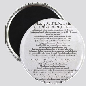 The Desiderata Poem by Max Ehrmann Magnet