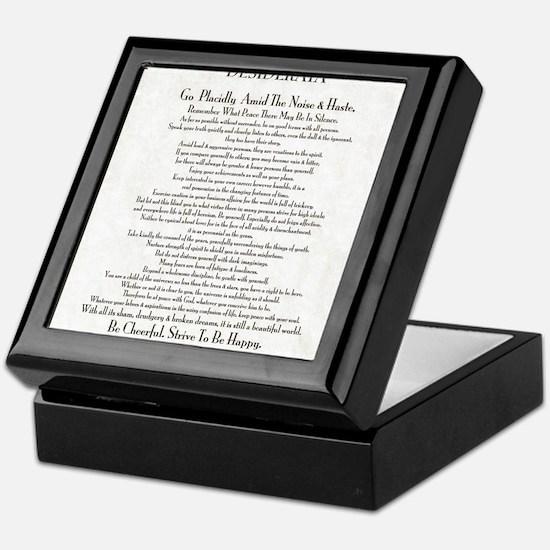 The Desiderata Poem by Max Ehrmann Keepsake Box