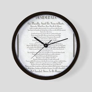 The Desiderata Poem by Max Ehrmann Wall Clock