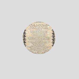 The Desiderata Poem by Max Ehrmann Mini Button