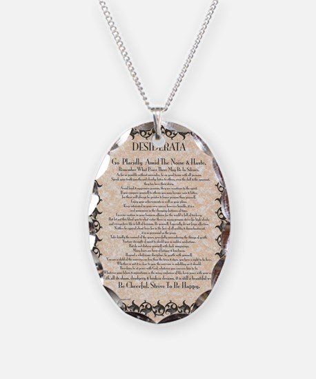 The Desiderata Poem by Max Ehr Necklace