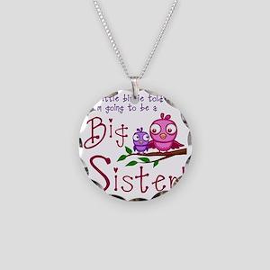 Birdie Big Sister Necklace Circle Charm