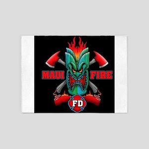 Maui Fire 5'x7'Area Rug