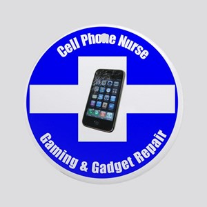Cell Phone Nurse 1 Round Ornament
