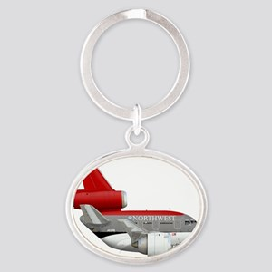 northwest airlines DC 10  Oval Keychain