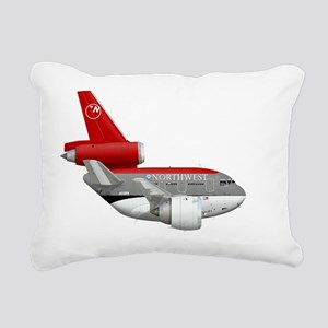 northwest airlines DC 10 Rectangular Canvas Pillow