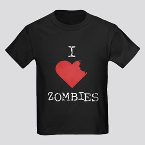 Heart Zombies Kids Dark T-Shirt