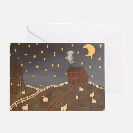 Night Night Sheepies Greeting Card