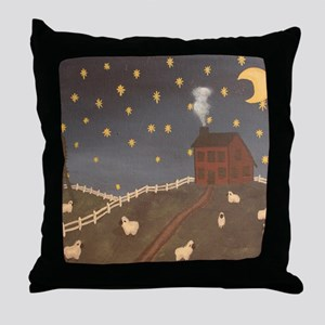 Night Night Sheepies Throw Pillow
