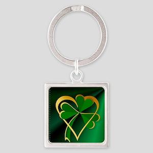 I Love St. Patricks Square Keychain