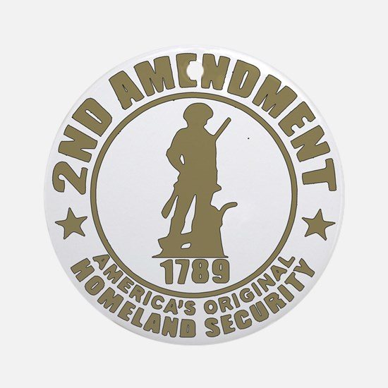 Minutemen, the Original Homesland S Round Ornament