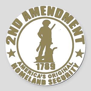Minutemen, the Original Homesland Round Car Magnet