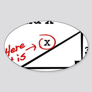 find x Sticker (Oval)