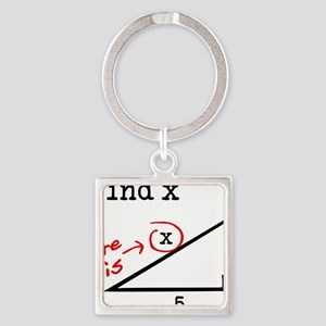 find x Square Keychain