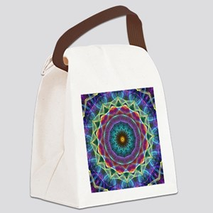 Inward Flower Canvas Lunch Bag