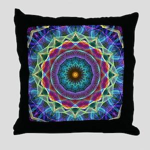 Inward Flower Throw Pillow