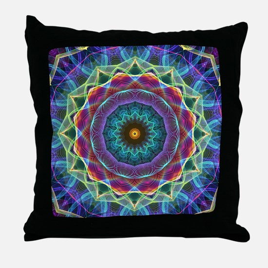 Inward Flower Throw Pillow