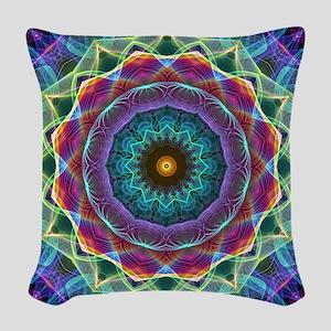 Inward Flower Woven Throw Pillow