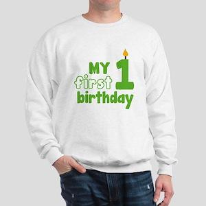 firstBirthCandle1C Sweatshirt