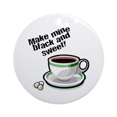 Black & Sweet Coffee Ornament (Round)