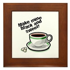 Black & Sweet Coffee Framed Tile