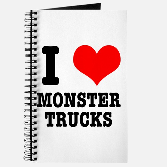 I Heart (Love) Monster Trucks Journal