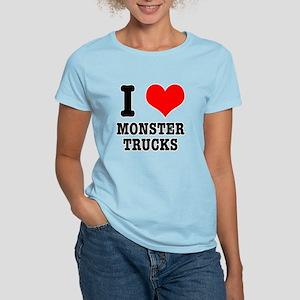 I Heart (Love) Monster Trucks Women's Light T-Shir