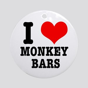 I Heart (Love) Monkey Bars Ornament (Round)