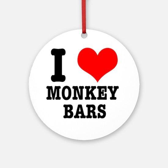 I Heart (Love) Monkey Bars Ornament (Round)