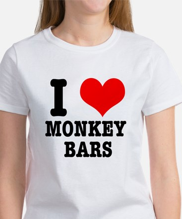 I Heart (Love) Monkey Bars Women's T-Shirt