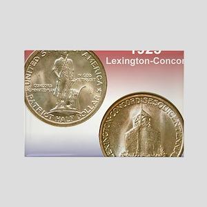 1925 Lexington-Concord Half Dolla Rectangle Magnet