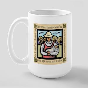 Vegetarian da Vinci Quote Large Mug