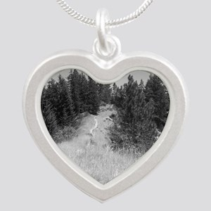 mountain bike shirt Silver Heart Necklace