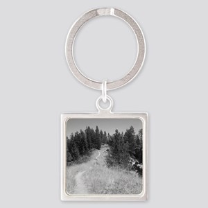mountain bike shirt Square Keychain