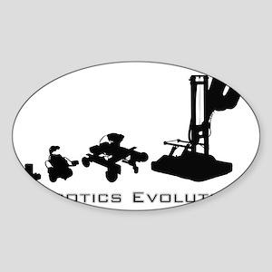 Robotics Evolution Sticker (Oval)